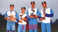 1989 premiazione del Torneo a Marina di Ravenna